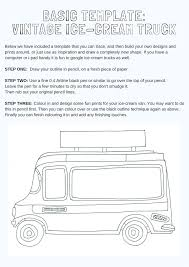 DESIGN YOUR OWN VINTAGE ICE-CREAM TRUCK - DRAWING KIT (PRINTABLE ...
