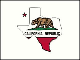 Texas Outline California Flag By Artisticattitud