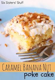 Caramel Banana Nut Poke Cake Recipe – Six Sisters Stuff
