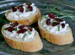 and easy canapes cranberry and goat cheese canapés recipe with picture