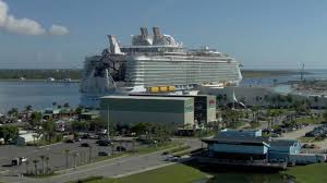 World's Largest Cruise Ship Makes Stop At Port Canaveral