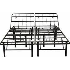 modern sleep adjustable platform metal bed frame walmart com