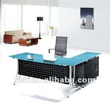 blue glass desk blue glass top modern office furniture office