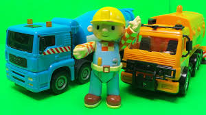 100 Bob The Builder Trucks Mega Movers Cement Mixer Truck Unboxing With Streetcleaner And