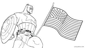 America Coloring Pages Free Printable Captain For Kids Download North