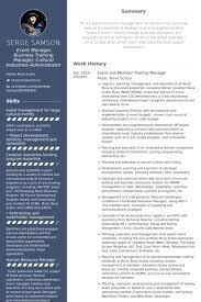 Event And Member Training Manager Resume Example