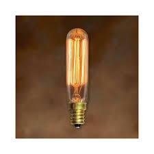 25w antique light bulb t6 tubular candelabra base bulbrite