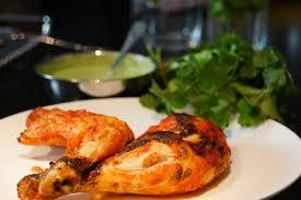 de cuisine indienne recette de cuisine indienne poulet tandoori et sauce coriandre