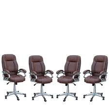 TimberTaste 4 Pieces Of LILLY Brown Directors, Executive, Boss ... Boss Executive Button Tufted High Back Leatherplus Chair Bosschair China Adjustable Office Hxcr018 Guide How To Buy A Desk Top 10 Chairs Highback Modern Style Ergonomic Mesh Lovely Chesterfield Directors Oxblood Leather Captains Black Swivel With Synchro Tilt Shop Traditional Free Shipping Luxuary Mulfunctional Luxury Huntsville Fniture