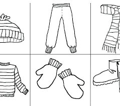 Winter Clothes Coloring Page S Preschool Sheets