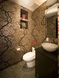 florale tapeten wasserfest ideen verkleidung wänd bad