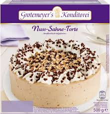 nuss sahne torte 500 grams grotemeyer s konditorei gmbh