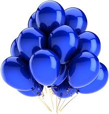A bunch of beautiful blue balloons