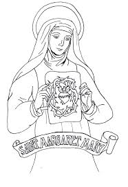 Queen Elizabeth 1 Colouring Pictures St Margaret Mary Alacoque Coloring Page Sketch