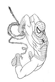 Luxury Spider Man Coloring Pages On Print Spiderman Pictures To Superhero