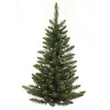 3 Foot Camdon Fir Half Artificial Christmas Wall Tree 50 DuraLit Incandescent Clear Mini Lights