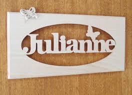 plaque de porte chambre bébé plaque de porte pancarte prénom personnalisé bois de hêtre