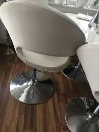 stühle lounge stuhl weiß mit chrom fuß in 33613 bielefeld