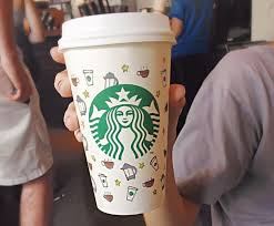 Starbucks Coffee Cup Drawing Design