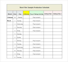 Film Production Schedule Template Download Planning Excel