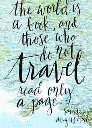 The World Is A Book And Those Who Do Not Travel Read Only Page Quote Screen Print On Vintage Atlas
