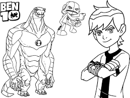Beautiful Ben 10 Coloring Pages 50 In Free Book With