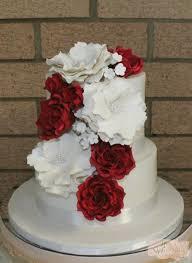 Stunning Red White Wedding Cake Weddingcake Bne Brisbane Goldcoast