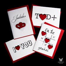 Kit 4 Cartões De Amor Dia Dos Namorados Aniversário Cartão