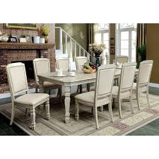 Seven Piece Dining Room Set by Furniture Of America Caplin Traditional 9 Piece Antique White