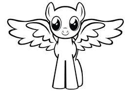 Cute Pegasus Coloring Pages Baby Ponies Page Flowers Roses