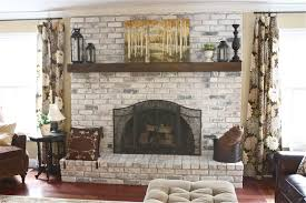 Paint Colors Living Room Red Brick Fireplace by The Yellow Cape Cod White Washed Brick Fireplace Tutorial