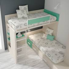 lit superposé d angle simple contemporain pour enfant