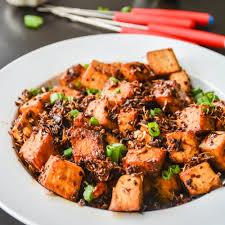 spicy garlic tofu in 10 minutes relish the bite