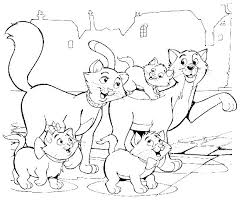 Aristocats Family Being The Road Coloring Pages