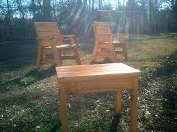 Webbed Lawn Chairs With Wooden Arms by How To Build 2 Outdoor Arm Chairs And A Side Table Jays Custom