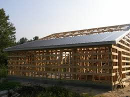 Steel Roofing on Pole Barn