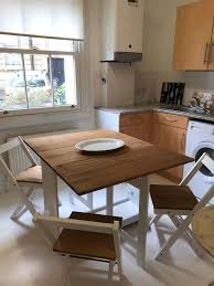 Fold Away Dining Table And 4 Chairs