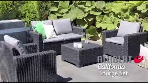 Outsunny Patio Furniture Assembly Instructions by Allibert California Lounge Set Single Seater Assembly Video