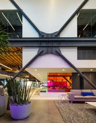 100 Define Glass House AI Uses Coloured Glass Walls To Define Workspaces For LA Ad