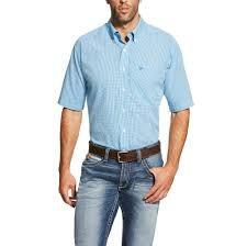 ariat men u0027s wrinkle free inwood short sleeve shirt fort brands