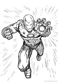 Free Iron Man Coloring Pages