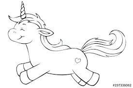 Flying Unicorn Coloring Pages Cute Page Stock Image And Royalty Free Realistic