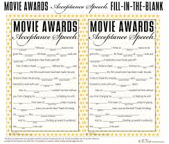 Halloween Mad Libs Free by Bnute Productions Free Printable Oscar Party Game Acceptance