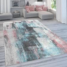 designer teppich für wohnzimmer pastellfarben farbverläufe abstrakt in bunt