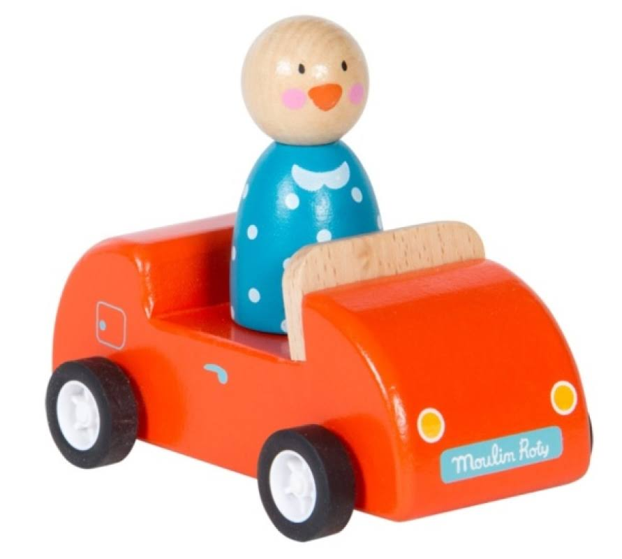 Moulin Roty The Big Family Wooden Car - Red