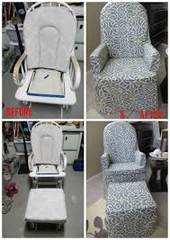 Chair Slip Cover Pattern by How To Recover A Nursery Glider Gliders Diy Tutorial And Nursery
