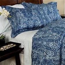 Steven and Chris Mackenzie Bedding Homeoutfitters Blue paisley