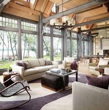 Vaulted Ceiling Living Room Design Ideas 11