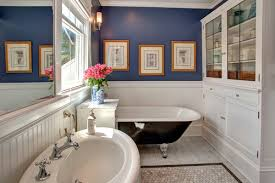 Paint Color For Bathroom With Almond Fixtures by Remodelaholic Tips And Tricks For Choosing Bathroom Paint Colors