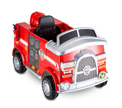 100 Power Wheels Fire Truck Paw Patrol 6 Volt Powered Ride On Toy By Kid Trax